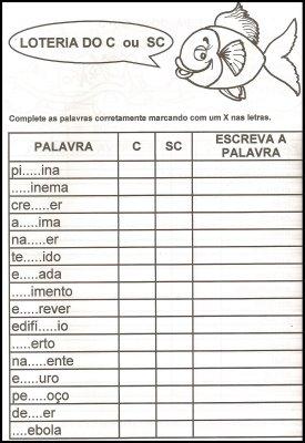 Exerc\u00edcios de ortografia 2.\u00ba ano