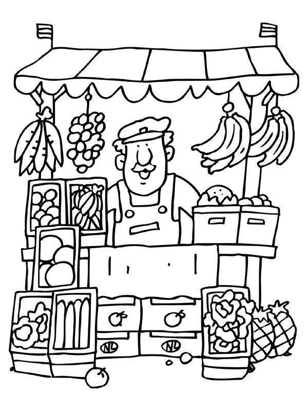 Desenhos para colorir profiss es for Seurat coloring pages